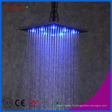 Fyeer 8 pouces Pouce auto-puissance LED tête de douche pluie noire