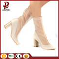 8cm elegan white breathable mesh ladies shoes
