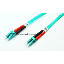 LC para LC Om3 / Om4 Modo Multimodo Fibra Óptica Patch Cable