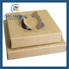 Ручная ручка для бумаги Коричневая крафт-бумага для торта (коробка CMG-cake-025)