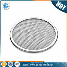 "Customized anodized aluminum 10"" barbecue grill netting screen/pizza mesh"