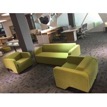 Sofá recreacional vivo barato verde de Apple de la tela fijado para el trabajo de oficina