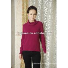 suéter de cuello alto de cachemira estilo elegante mujer