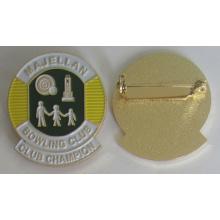 Pin de placa de esmalte suave de metal de alta calidad con pasador de seguridad (badge-207)