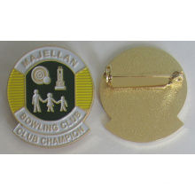 Broche d'insigne souple en métal de haute qualité avec épingle de sûreté (badge-207)