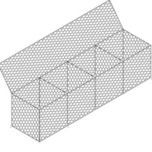 hot dipped galvanized stone cage/gabion box/rock filled gabion baskets(factory)