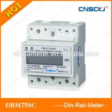 DRM75SC monofásico de prepago kwh metro lcd display