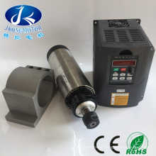 2.2kw water cooled woodworking spindle motor 80mm diameter, 225mm length,cnc engraving machine