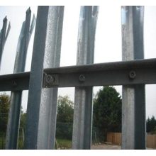 professional powder coated palisade fence/garden fence