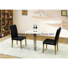 Two Persons Solid Surface Coffee Shop Furniture Set (FOH-BCA88)