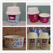 Ice Cream Paper Cups with Lids