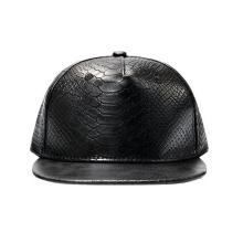 Leather Strap Back Flatbill Snapback Hats