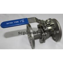 Válvula de esfera com flange 2-PC com suporte de montagem direta