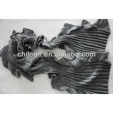 Rüsche-Kaschmir-strickender Schal