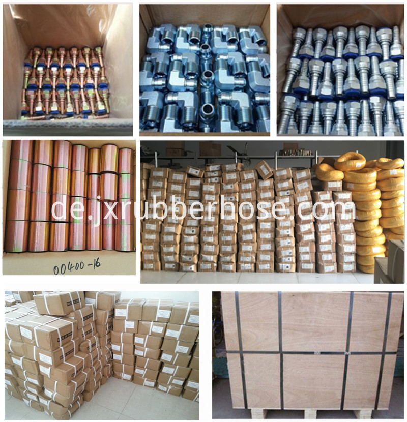 hydraulic hose fitting packing