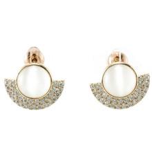 Novo design para a jóia de prata do brinco 925 da pérola da mulher (E6509)