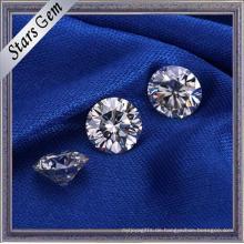 Fabrik Direktverkauf Runde Brilliant Cut Weiße Farbe Moissanite Diamant für Ring Schmuck