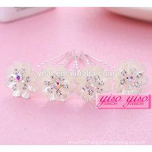 charming promotional gift ladies floral alloy fashion girl hair pin