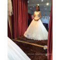 A-Line arabic beaded lace gown wedding for girl robe de mariage