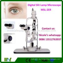MSL-2ER Ophthalmologische Ausrüstung Konvergierende Stereoskop-Mikroskop Günstige Spaltlampe Mikroskop