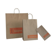 Recycled Brown Kraft Paper Bag With Flat Handle