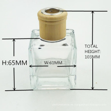 botella de cristal del difusor de lámina vacía cuadrado del aroma del fabricante 50ml 100ml 150ml