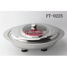 Stainless Steel Combined Cover Oval Buffet Plate (FT-0225)