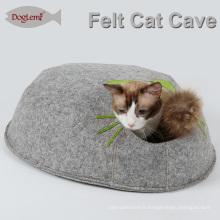 Conduit de caverne de chat de feutre chaud de lit de fenêtre de chat qui respecte l'environnement de fabricant
