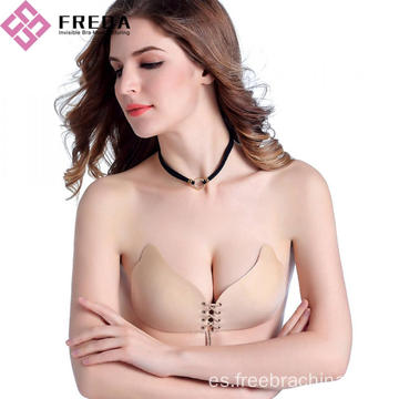 sin tirantes sin respaldo push up closure bra invisible