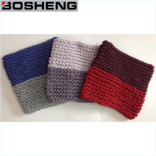 Cuello de invierno invierno de dos colores hecha punto bufanda de infinito