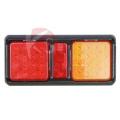 Haute puissance LED camion queue rectangulaire arbre de lumière lentille Stop/virage indicateur LED Reat combinaison feux