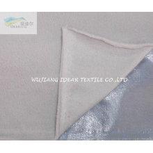Polar Fleece Bonded Mercerizing flocked With Film for Curtain