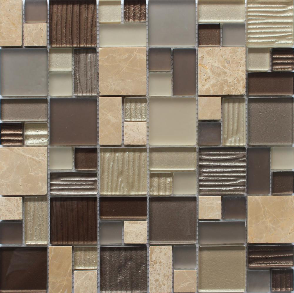 Popular Stone Glass Mixed Mosaic Tile
