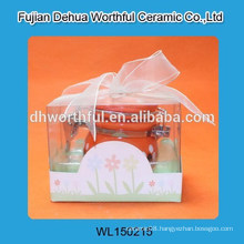 Lovely ceramic orange seal pot with nice package