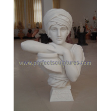 Stone Sculpture Marble Statue Head Bust for Home Decoration (SY-S312)