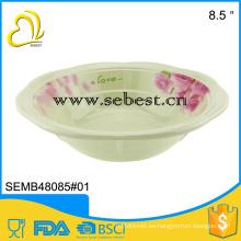 imitación caliente del aislamiento taza de sopa de melamina de cerámica
