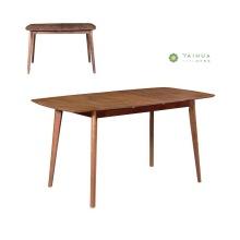 Economical Dark Walnut 1.6M Dining Table Solid Wood
