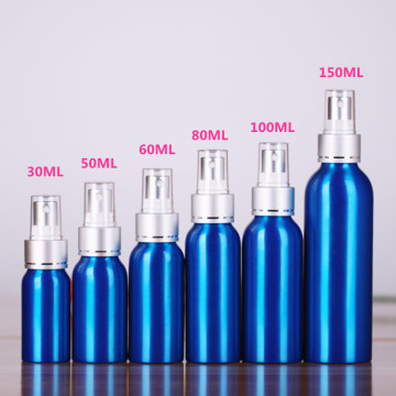Aluminum Perfume Bottle with Aluminum Spray Pump and PP Top