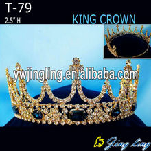 Rhinestone Gold King And Queen Crowns