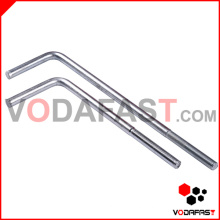L Shape Foundation Bolt Zinc Plated