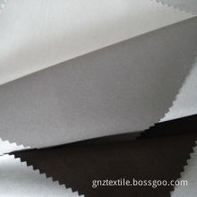 Twill Peach Skin Fabric with Tricot Bounding