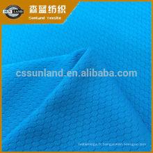 Tissu en nid d'abeille 100% polyester, coupe du sport