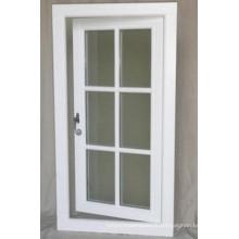 Porte de patio en aluminium à battants en aluminium