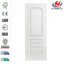 24 in. X 80 in. Palazzo Treviso Liso de 3 paneles Round Top Solid Core Primed compuesto Simple Prehung puerta interior