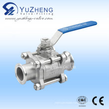 Stainless Steel 3 PC Clamped Ball Valve
