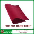 papier de transfert de chaleur de flock pour des textiles