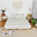 Drap de lit queen size en coton argenté