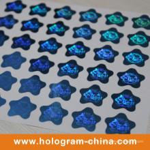 Impression d'étiquette d'hologramme laser 3D bleue