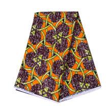 Tecido de impressão de cera ankara yellow foe dress