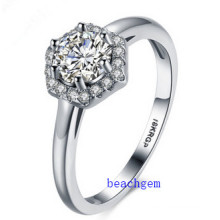 Hot Sell Jewelry- Cubic Zirconia Brass Rings (R0829)